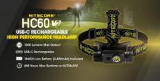€ 53 med kupong for NITECORE HC60 V2 P9 LED -hodelykt 1200lm 180 ° justerbar 8 moduser USB oppladbar lommelykt Sykling Campingjakt fra EU CZ lager BANGGOOD