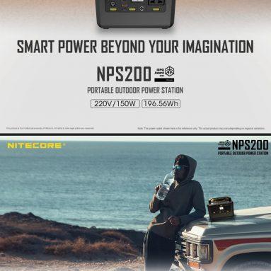 217 € με κουπόνι για NITECORE NPS200 54600mAh 56.4AH 220V 300W LCD Display Portable Power Station 18650 Battery Outdoor Camping Generator από την αποθήκη EU CZ BANGGOOD