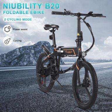 709 € z kuponem na Niubility B20 20-calowy składany rower elektryczny 350 W 40-50 km Zasięg z magazynu EU GER TOMTOP