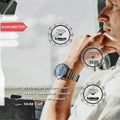 99 € s kuponom za NORTH EDGE GAVIA2 200M vodootporni visinomjer barometar kompas termometar planinarenje sport na otvorenom digitalni sat tvrtke BANGGOOD