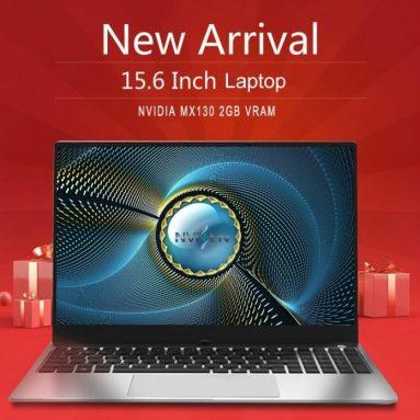 € 339 com cupom para NVISEN GLX153 15.6 polegadas Intel Pentium 4405U NVIDIA GeForce MX130 8GB DDR4 RAM atualizável 128GB SSD 89% Screen Ratio 2.0MP HD Camera Backlit Notebook da BANGGOOD