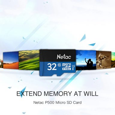$8 with coupon for Netac P500 Micro SD Card 64GB – WINDOWS BLUE 64GB from GearBest