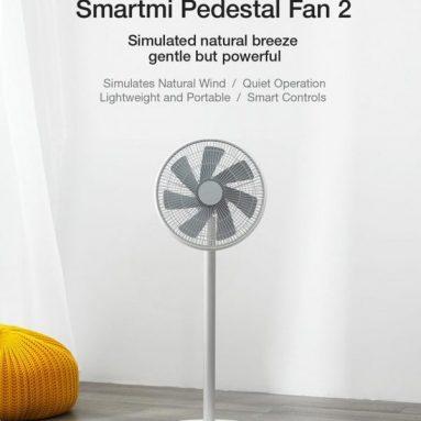 76 € s kupónom pre novú verziu Smartmi Natural Wind Pedestal Fan 2S s ovládaním APP MIJIA Lítium-iónová batéria, DC Frekvenčný ventilátor od EU CZ Veľkoobchod BANGGOOD