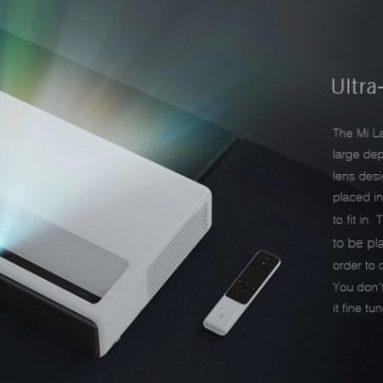 [새 버전] 쿠폰이있는 € 1081 Xiaomi MIJIA Ultra Short Laser Projector 글로벌 버전 5000 루멘 150 인치 ALPD3.0 4K 해상도 2.4GHz 5.0GHz BANGGOOD의 EU ES / CZ 창고가있는 홈 시어터 프로젝터