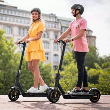 € 587 з купоном на Ninebot KickScooter MAX G30 G30P Портативний складний електричний скутер 350 Вт Двигун Макс. Швидкість 30 км / год 15.3Ah Акумулятор зі складу EU PL GEEKBUYING