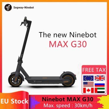 Ninebot KickScooter MAX G618ポータブル折りたたみ式電動スクーターのクーポン付き€30 GEEKBUYINGのEU WAREHOUSE