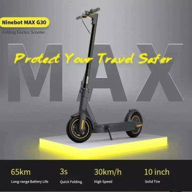 €595 with coupon for Ninebot MAX G30 Electric Scooter Fixed Speed Cruise 350W Motor 15.3Ah Battery 65km Mileage Black – Black EU Poland warehouse from GEARBEST