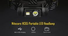$49 with coupon for Nitecore HC65 Portable 1000lm LED Headlamp with 18650 Battery from GEARBEST