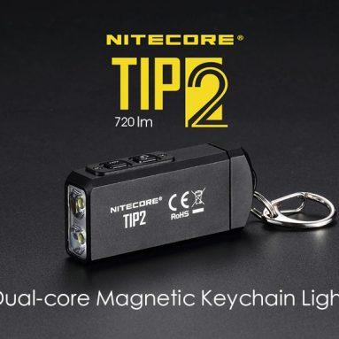 $ 29 med kupon til Nitecore TIP2 720lm Dual-core magnetisk nøglering lommelygte fra GEARBEST
