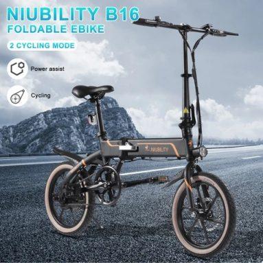 579 € z kuponem na Niubility B16 16-calowy składany rower elektryczny 350W 10.4 Ah z magazynu EU GER TOMTOP