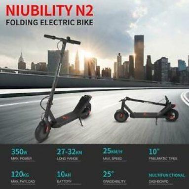286 євро з купоном на Niubility N2, 10-дюймовий двоколісний складний електричний скутер, акумулятор на 36 В на 10 годин, зі складу EU GER TOMTOP