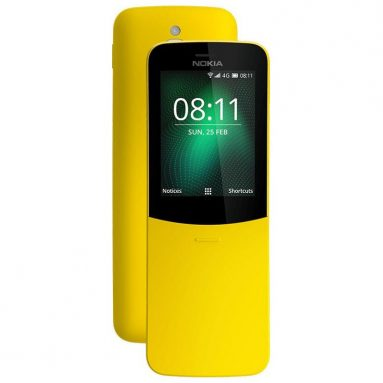 $79 with coupon for Nokia 8110 4G Feature Phone – YELLOW from GearBest