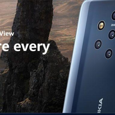 689 avec coupon pour Nokia 9 PureView Version internationale Phablet 4G - Bleu de GEARBEST