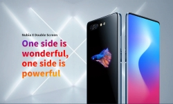 $ 379 met kortingsbon voor Nubia X Dual Screen 4G Phablet internationale versie - Ocean Blue van GEARBEST