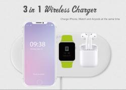 13 avec coupon pour OJD - Chargeur sans fil 48 pour iPhone iWatch Airpods de GEARBEST