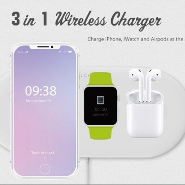 $13 with coupon for OJD – 48 Wireless Charger for iPhone iWatch Airpods from GEARBEST