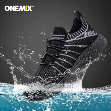 €22 with coupon for ONEMIX 2020 NEW Running Shoes Waterproof Breathable Anti-Slip Trekking Sports Shoes Men Sneakers Outdoor Climbing Hiking from BANGGOOD