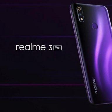€ 179 s kupónom pre OPPO Realme 3 Pro Globálna verzia 6.3 Inch FHD + Android 9.0 4045mAh 25MP AI Predná kamera 4GB RAM 64GB ROM Snapdragon 710 Octa Core 2.2Ghz 4G Smartphone - Lightning Purple od BANG