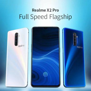 449 $ с купоном на смартфон OPPO Realme X2 Pro 4G 6.5-дюймовый FHD + Android 9.0 Snapdragon 855 Plus Octa Core 8 ГБ ОЗУ 128 ГБ ROM 4 Задняя камера 4000 мАч Батарея Global Version - Синий от GEARBEST