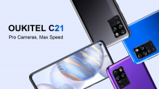€ 84, BANGGOOD의 OUKITEL C21 글로벌 버전 6.4 인치 FHD + 홀 펀치 디스플레이 4000mAh Android 10 20MP 전면 카메라 4GB 64GB Helio P60 4G 스마트 폰 쿠폰 포함