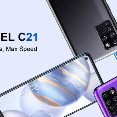€ OUKITEL C94 Global Version için kuponlu 21 € 6.4 inç FHD + Delik Delme Ekranı 4000mAh Android 10 20MP Ön Kamera 4GB 64GB Helio P60 4G BANGGOOD'dan Akıllı Telefon