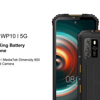 € 303 dengan kupon untuk OUKITEL WP10 Global Bands 5G IP68 & IP69K Waterproof 6.67 inch FHD + NFC 8000mAh Android 10 8GB 128GB Dimensity 800 48MP Quad Rear Camera Rugged Smartphone dari BANGGOOD