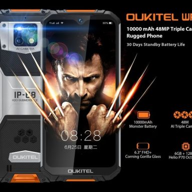 BOUGOGOのOUKITEL WP169グローバルバージョンスマートフォン6GB RAM 6GB ROMのクーポン付き€128