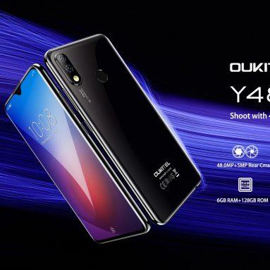OUKITEL Y109 글로벌 버전 4800 인치 FHD + Android 6.3 9.0mAh 4000MP 듀얼 카메라 48GB 6GB Helio P128 70G 스마트 폰용 쿠폰 포함 BANGGOOD