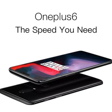 €377 with coupon for OnePlus 6 4G Phablet 6GB RAM 64GB ROM International Version – MIRROR BLACK from GearBest