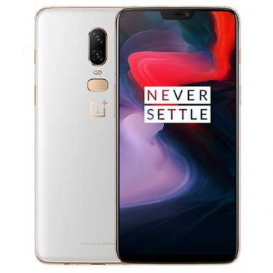 €473 with coupon for OnePlus 6 Android 8.1 NFC 8GB RAM 128GB ROM Smartphone SILK WHITE from BANGGOOD