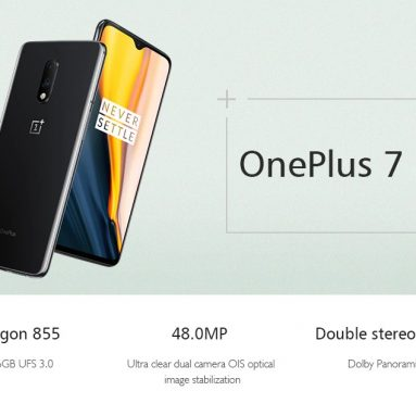 €379 with coupon for OnePlus 7 6.41 Inch FHD+ AMOLED Waterdrop Display 60Hz NFC 3700mAh 48MP Rear Camera 8GB 256GB Snapdragon 855 Octa Core UFS 3.0 4G Smartphone – Mirror Gray Global Rom from BANGGOOD