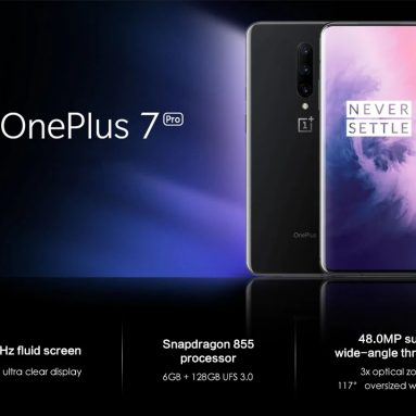 € 590 쿠폰 포함 OnePlus 7 Pro 6.64 인치 QHD + AMOLED 90Hz HDR10 + NFC 4000mAh 48MP 후면 카메라 12GB 256GB UFS 3.0 Snapdragon 855 4G 스마트 폰 – BANGGOOD의 Nebula Blue Global Rom