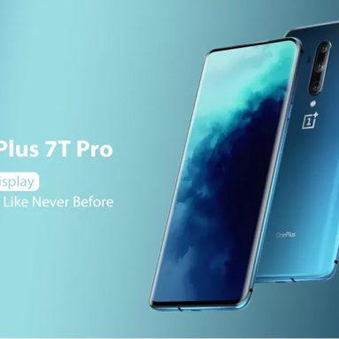 € 671 s kuponom za OnePlus 7T Pro 4G pametni telefon Phablet International Version 8 / 256GB - Plava Poljska skladište od GEARBEST