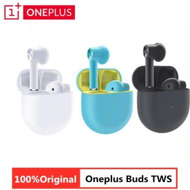 """€ 49 עם קופון ל- OnePlus Buds TWS אוזניות אלחוטיות Bluetooth 5.0 אוזניות 13.4 מ""""מ דיכאון נמוך דינמי אוזניות סטריאו מבטל רעש אוזניות - אפור מבית BANGGOOD"""