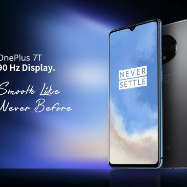 €415 with coupon for OnePlus 7T Global Rom 6.55 inch 90Hz Fluid AMOLED Display HDR10+ Android 10 NFC 3800mAh 48MP Triple Rear Cameras 8GB RAM 128GB ROM UFS 3.0 Snapdragon 855 Plus Octa Core 2.96GHz 4G Smartphone – Glacier Blue from BANGGOOD