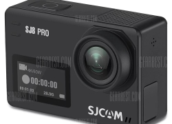 $161 with coupon for Original SJCAM SJ8 Pro 4K 60fps WiFi Action Camera  –  FULL SET BLACK from GearBest