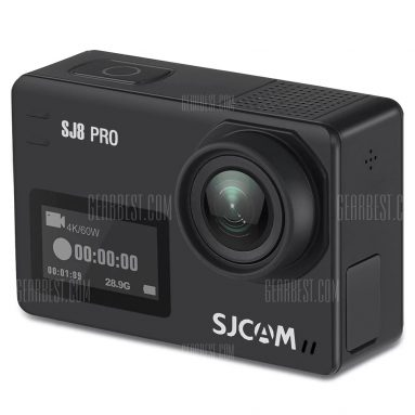 $239 with coupon for Original SJCAM SJ8 Pro 4K 60fps WiFi Action Camera  –  FULL SET  BLACK from GearBest