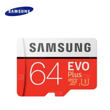 $13 with coupon for Original Samsung UHS-3 64GB Micro SDXC Memory Card  –  64GB  ORANGE from GearBest