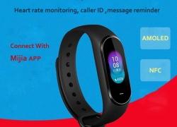 € € 35 Orijinal Xiaomi için kuponlu Hey + B1800 0.95 İnç AMOLED Akıllı Saat NFC Uzun Bekleme BANGGOOD'den Uluslararası Sürüm