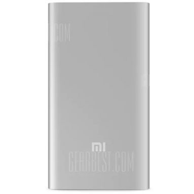 $9 with coupon for Original Xiaomi 5000mAh Mobile Power Bank Li-Polymer Battery Charger  –  SILVER from GearBest