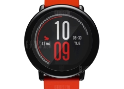€84 with coupon for Original Xiaomi Huami AMAZFIT Heart Rate Smartwatch  –  INTERNATIONAL VERSION  BRIGHT ORANGE from GearBest