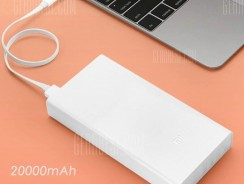 $22 with coupon for Original Xiaomi Mi 20000mAh Mobile Power Bank Quick Charging  –  WHITE from GearBest