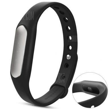 $ 9 com cupom para Original Xiaomi Mi banda 1S pulseira de freqüência cardíaca com LED branco - preto da GearBest