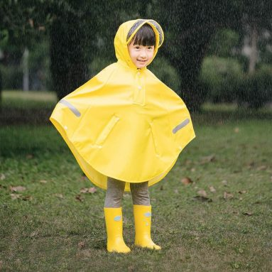 €21 with coupon for Original Xiaomi Mijia Children Cloak Raincoat Boy Girls Waterproof Poncho – Blue 140cm from BANGGOOD
