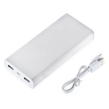 $ 19 con cupón para Original Xiaomi Power Bank 2C - BLANCO de GearBest