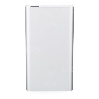 $11 with coupon for Original Xiaomi Ultra-thin 10000mAh Mobile Power Bank 2  –  SILVER from GearBest