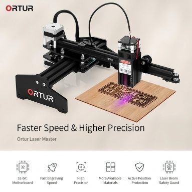 €197 with coupon for Ortur Laser Master 20w Desktop Laser Engraver Cutter Laser Engraving Machine 32-bit Motherboard LaserGRBL Control Software Easy to Install – Black EU Plug 20w from EU Warehouse GEARBEST