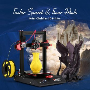 329 USD s kuponom za Ortur Obsidian 3D printer Brzi odgovor Automatsko niveliranje Otkrivanje nestanka struje Prekid rada Snaga Brzo sastavljanje Slient Running - Crni EU utikač GEARBEST-a