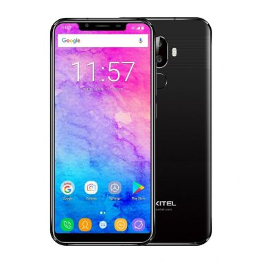 €80 with coupon for Oukitel U18 5.85 Inch HD+ 21:9 Notch Full Display 4000mAh Face Unlock 4GB 64GB MT6750T Octa Core 4G Smartphone – Black from BANGGOOD