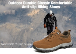 $26 with coupon for Outdoor Durable Classic Comfortable Anti-slip Hiking Shoes from GearBest